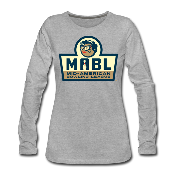 MABL Bowling Women's Long Sleeve T-Shirt - heather gray
