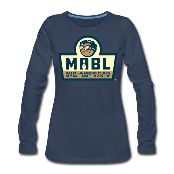 MABL Bowling Women's Long Sleeve T-Shirt - navy