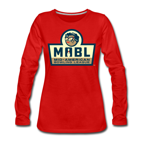 MABL Bowling Women's Long Sleeve T-Shirt - red