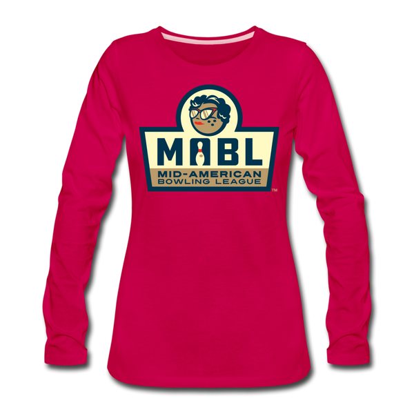 MABL Bowling Women's Long Sleeve T-Shirt - dark pink