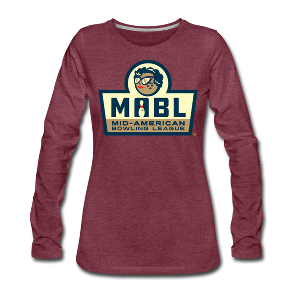 MABL Bowling Women's Long Sleeve T-Shirt - heather burgundy