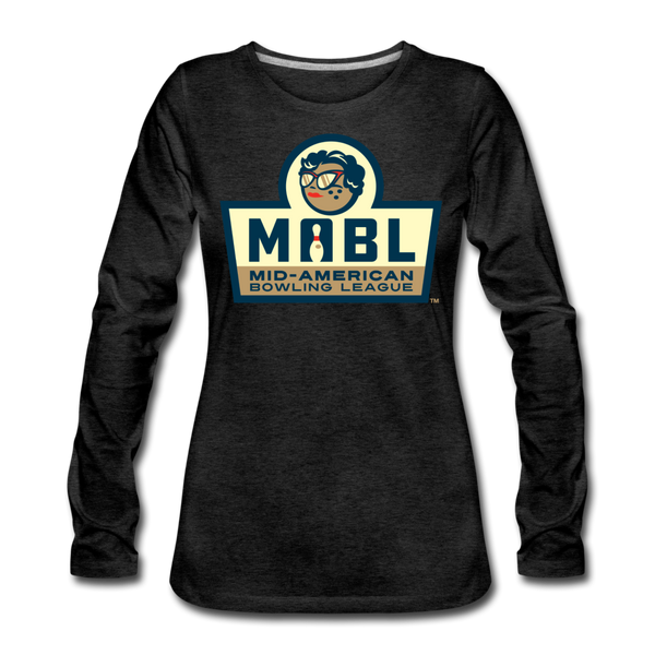 MABL Bowling Women's Long Sleeve T-Shirt - charcoal gray