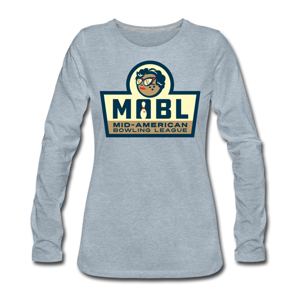 MABL Bowling Women's Long Sleeve T-Shirt - heather ice blue