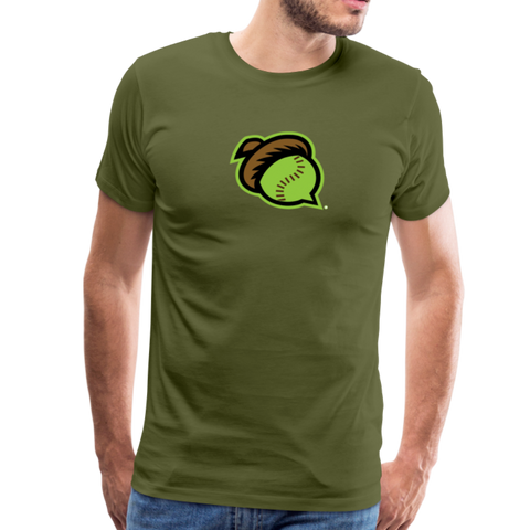 Mighty Oaks of Connecticut Men's Premium T-Shirt - olive green