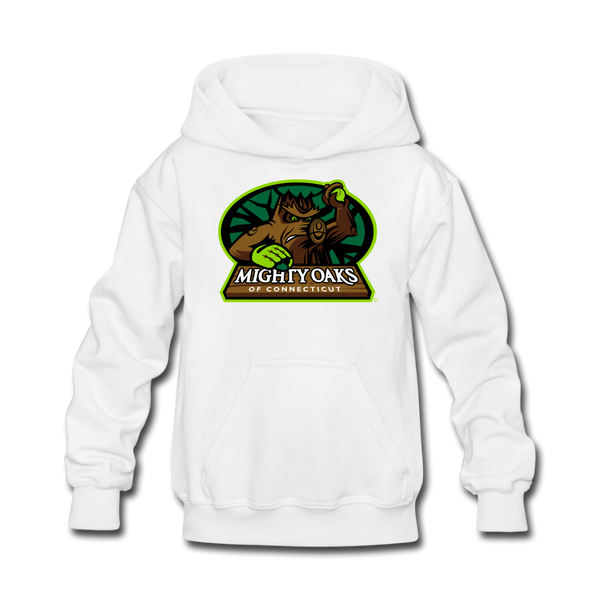 Mighty Oaks of Connecticut Kids' Hoodie - white