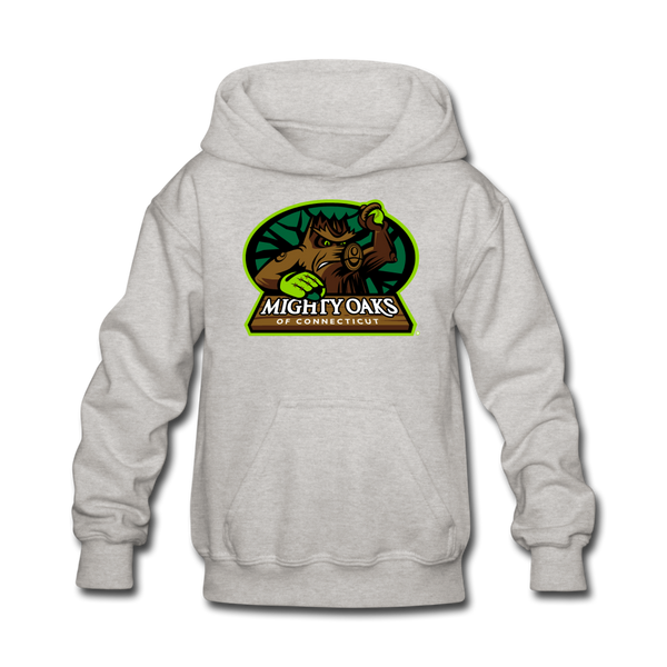 Mighty Oaks of Connecticut Kids' Hoodie - heather gray