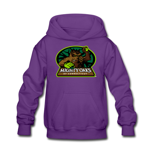 Mighty Oaks of Connecticut Kids' Hoodie - purple
