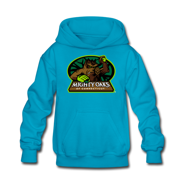 Mighty Oaks of Connecticut Kids' Hoodie - turquoise