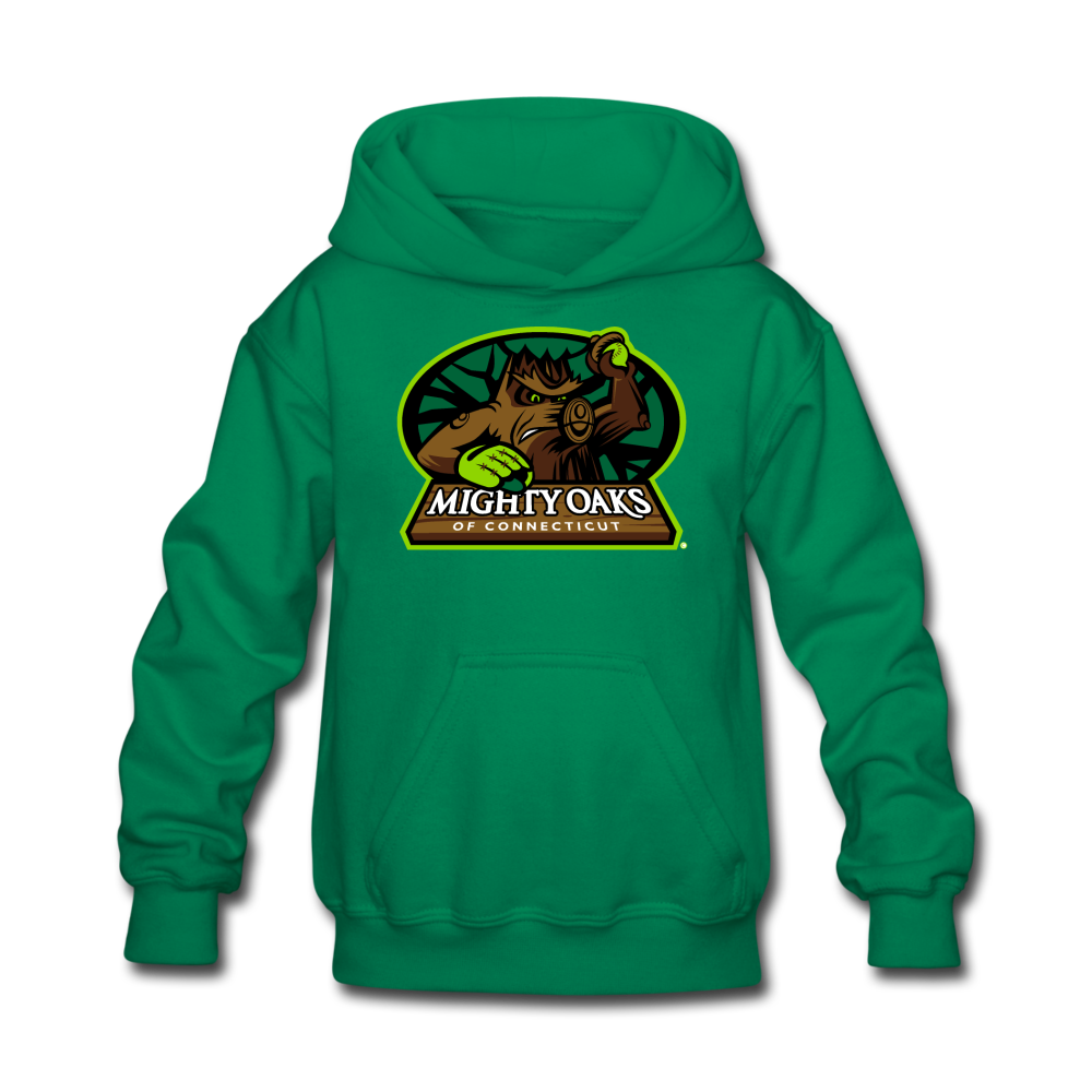 Mighty Oaks of Connecticut Kids' Hoodie - kelly green
