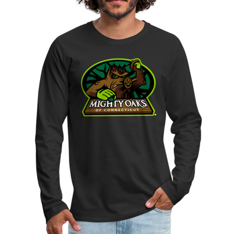 Mighty Oaks of Connecticut Men's Long Sleeve T-Shirt - black