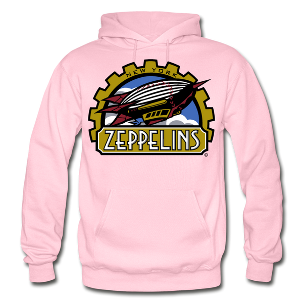 New York Zeppelins Heavy Blend Adult Hoodie - light pink