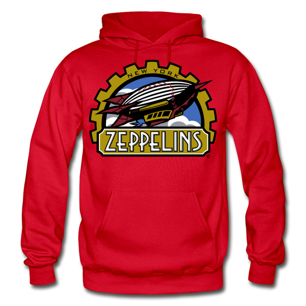 New York Zeppelins Heavy Blend Adult Hoodie - red