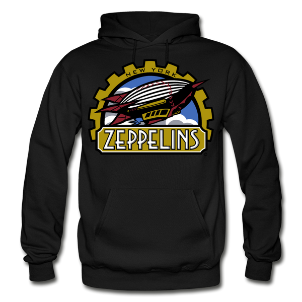 New York Zeppelins Heavy Blend Adult Hoodie - black