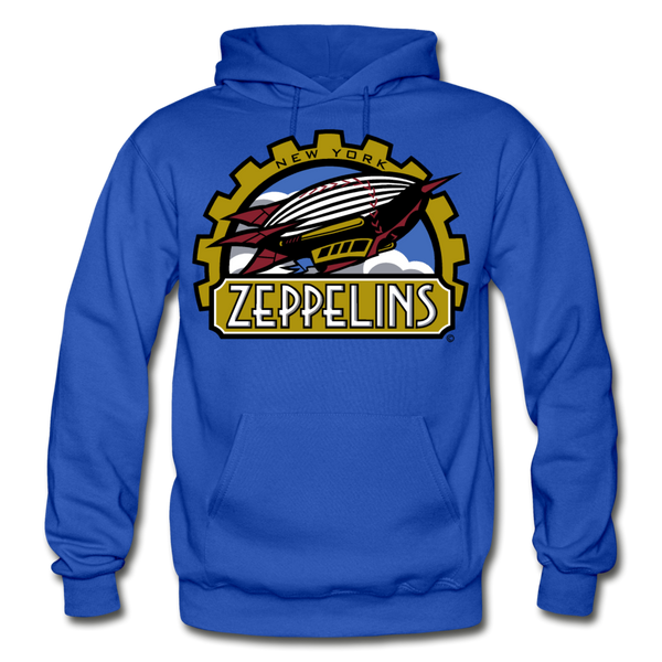 New York Zeppelins Heavy Blend Adult Hoodie - royal blue