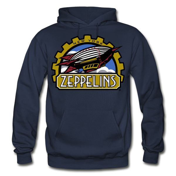 New York Zeppelins Heavy Blend Adult Hoodie - navy