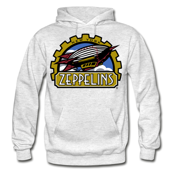 New York Zeppelins Heavy Blend Adult Hoodie - light heather gray