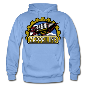 New York Zeppelins Heavy Blend Adult Hoodie - carolina blue