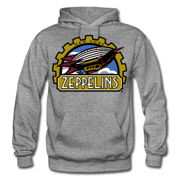 New York Zeppelins Heavy Blend Adult Hoodie - graphite heather