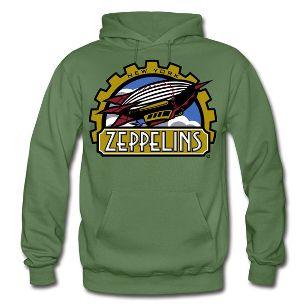 New York Zeppelins Heavy Blend Adult Hoodie - military green
