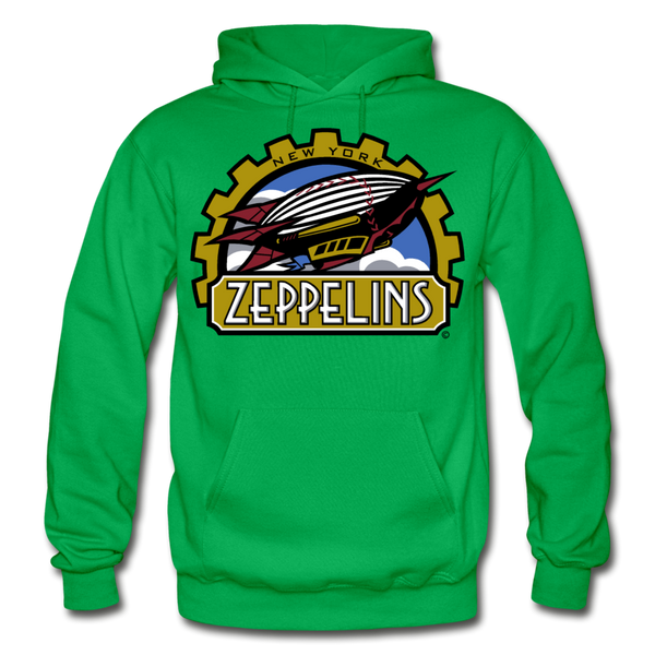 New York Zeppelins Heavy Blend Adult Hoodie - kelly green