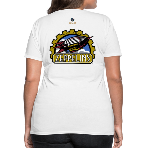 New York Zeppelins Women's Premium T-Shirt - white