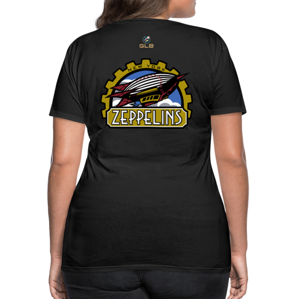 New York Zeppelins Women's Premium T-Shirt - black