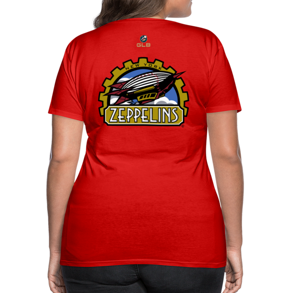 New York Zeppelins Women's Premium T-Shirt - red
