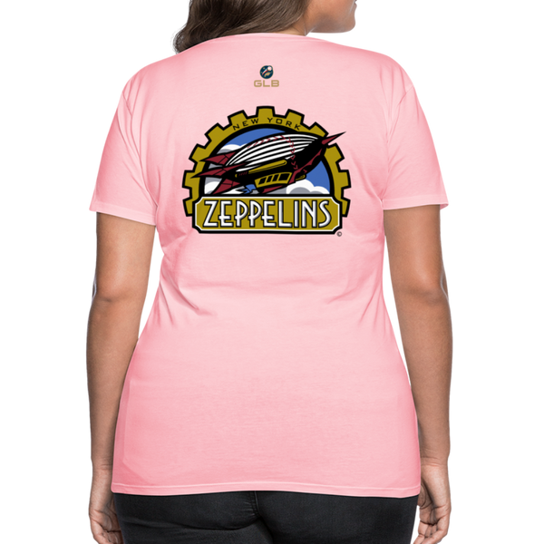 New York Zeppelins Women's Premium T-Shirt - pink