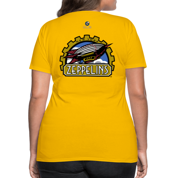 New York Zeppelins Women's Premium T-Shirt - sun yellow