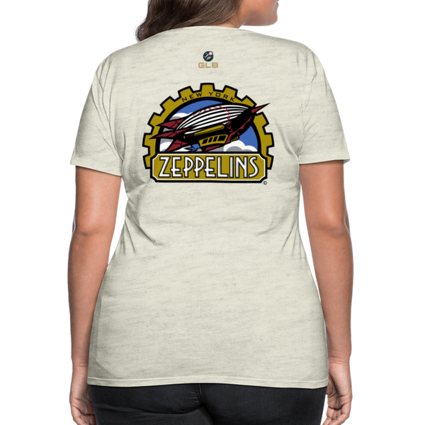 New York Zeppelins Women's Premium T-Shirt - heather oatmeal