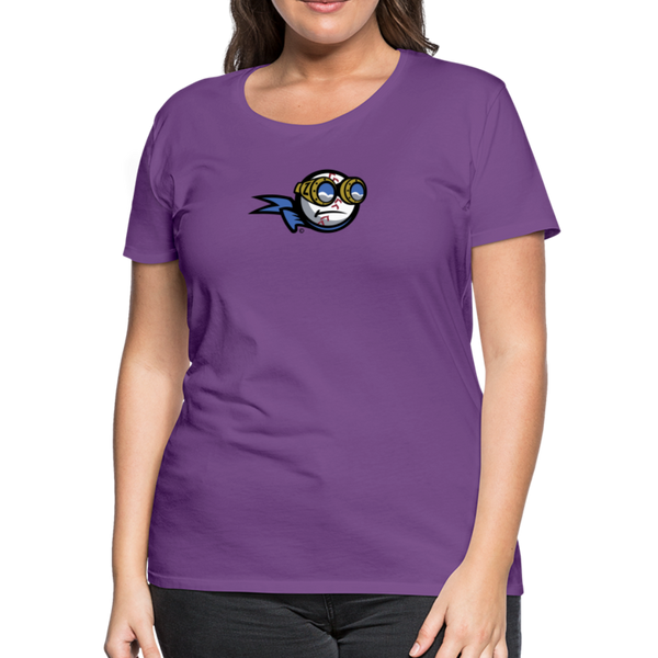 New York Zeppelins Women's Premium T-Shirt - purple
