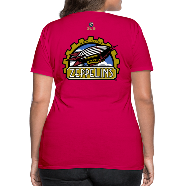 New York Zeppelins Women's Premium T-Shirt - dark pink
