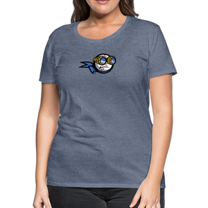 New York Zeppelins Women's Premium T-Shirt - heather blue