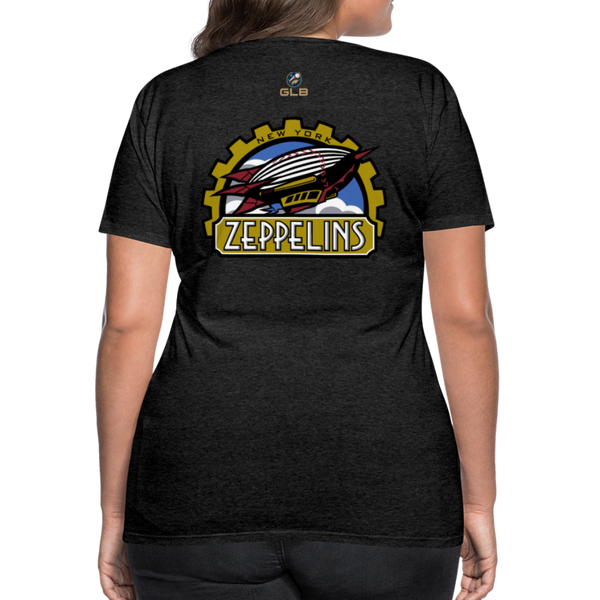 New York Zeppelins Women's Premium T-Shirt - charcoal gray