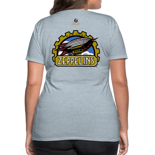New York Zeppelins Women's Premium T-Shirt - heather ice blue