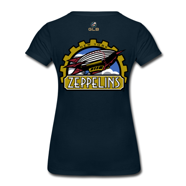 New York Zeppelins Women's Premium T-Shirt - deep navy