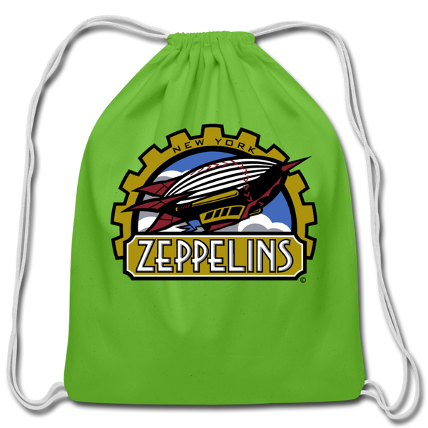 New York Zeppelins Cotton Drawstring Bag - clover