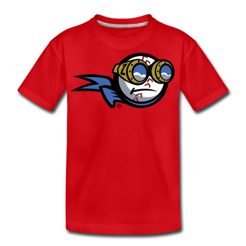 New York Zeppelins Mascot Kids' Premium T-Shirt - red