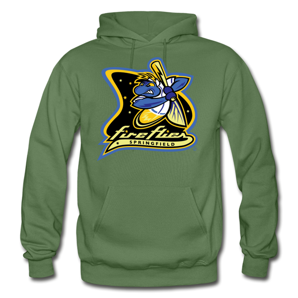 Springfield Fireflies Heavy Blend Adult Hoodie - military green
