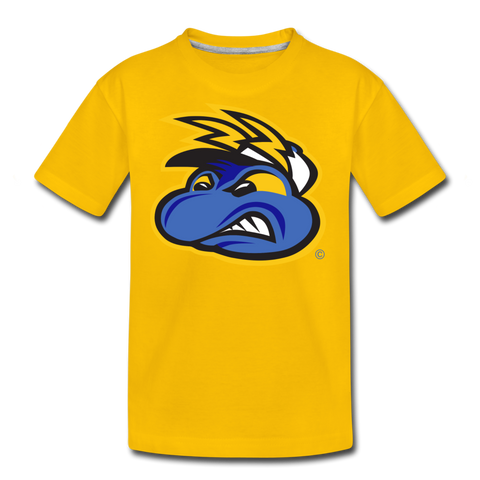 Springfield Fireflies Mascot Face Kids' Premium T-Shirt - sun yellow