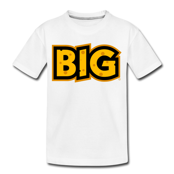 Wisconsin Big Cheese BIG Kids' Premium T-Shirt - white