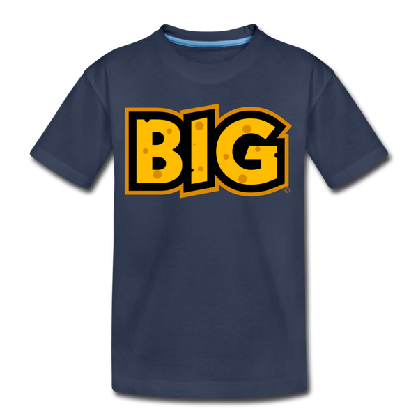 Wisconsin Big Cheese BIG Kids' Premium T-Shirt - navy
