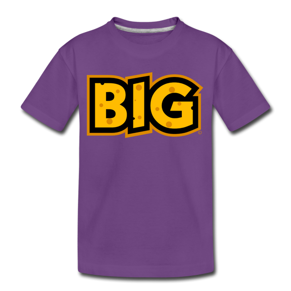 Wisconsin Big Cheese BIG Kids' Premium T-Shirt - purple