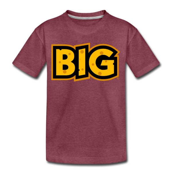 Wisconsin Big Cheese BIG Kids' Premium T-Shirt - heather burgundy