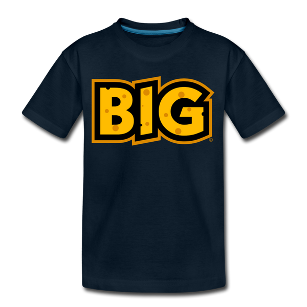 Wisconsin Big Cheese BIG Kids' Premium T-Shirt - deep navy