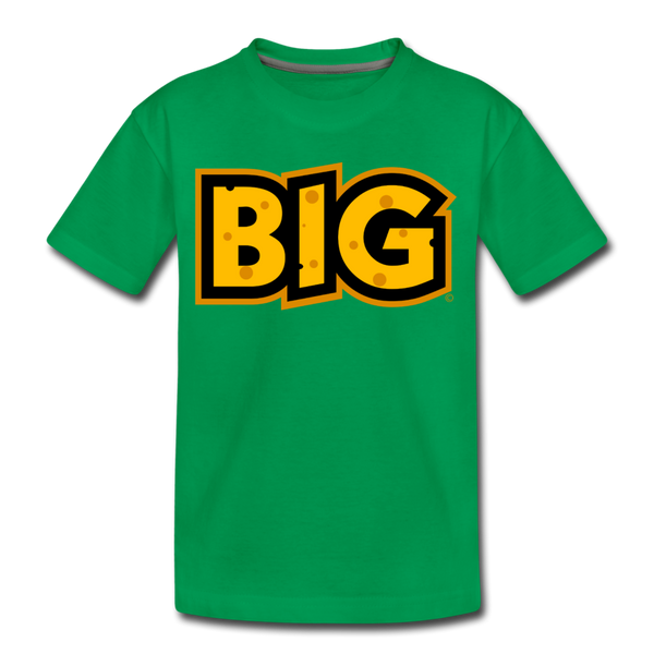 Wisconsin Big Cheese BIG Kids' Premium T-Shirt - kelly green