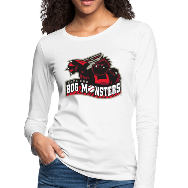 Cape Cod Bog Monsters Women's Long Sleeve T-Shirt - white
