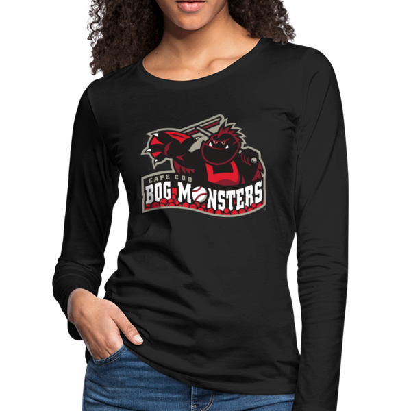 Cape Cod Bog Monsters Women's Long Sleeve T-Shirt - black