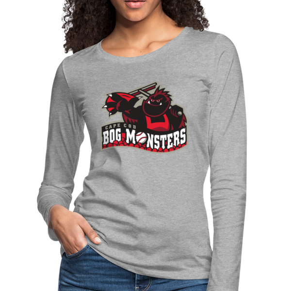 Cape Cod Bog Monsters Women's Long Sleeve T-Shirt - heather gray