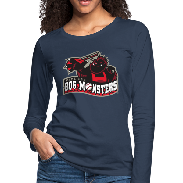 Cape Cod Bog Monsters Women's Long Sleeve T-Shirt - navy